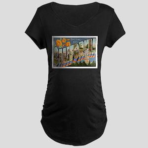 California CA Maternity Dark T-Shirt