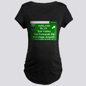 I5 INTERSTATE EXIT SIGN - CALIFO Maternity T-Shirt
