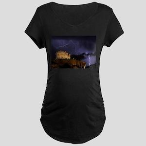 Greece Maternity Dark T-Shirt