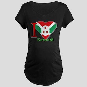 I love Burundi Maternity Dark T-Shirt