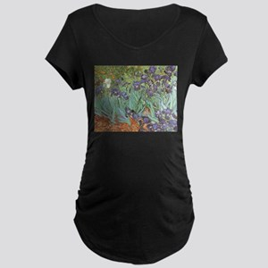 Van Gogh Irises Maternity Dark T-Shirt