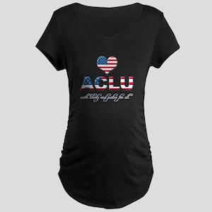 I <3 ACLU Maternity Dark T-Shirt