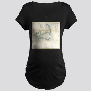 Vintage Map of Cape Cod (1857) Maternity T-Shirt