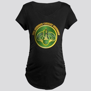 DUI - 3rd Cavalry Rgt with Text Maternity Dark T-S