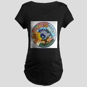 Healing Circle - white Maternity T-Shirt