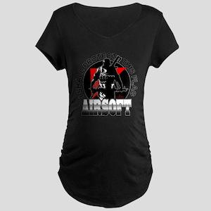 Protect Flag Airsoft Maternity Dark T-Shirt
