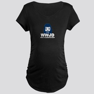 WWJD Maternity Dark T-Shirt