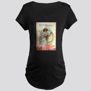victorian easter Maternity T-Shirt