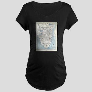 Vintage Map of Charleston South Maternity T-Shirt