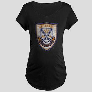 USS LEAHY Maternity Dark T-Shirt