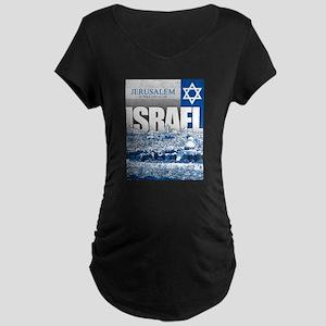 Jerusalem, Israel Maternity Dark T-Shirt