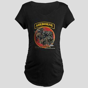 101 Airborne Eagle Maternity Dark T-Shirt
