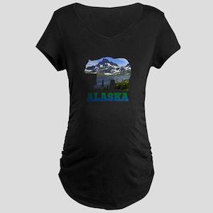 Alaskan Bear Maternity Dark T-Shirt
