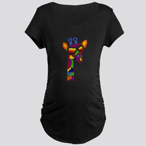 Giraffe in Sunglasses Maternity T-Shirt