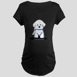 Bichon Frise II Maternity Dark T-Shirt
