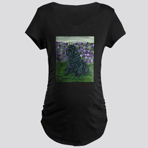 Belgian Sheepdog Baby Maternity Dark T-Shirt
