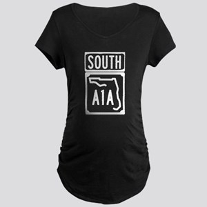 A1A South Florida Beachfront Ave Maternity T-Shirt