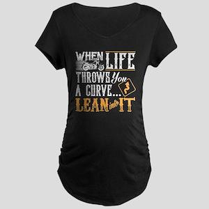 lean into it Maternity Dark T-Shirt
