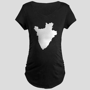 Burundi Silhouette Maternity T-Shirt