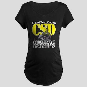 CSD Compulsive Snowmobile D Maternity Dark T-Shirt