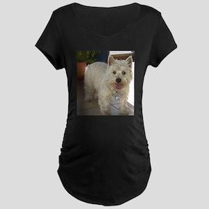 west highland white terrier full Maternity T-Shirt