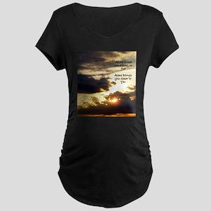 Alone Sunrise Maternity T-Shirt