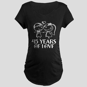 45th Anniversary chalk coup Maternity Dark T-Shirt
