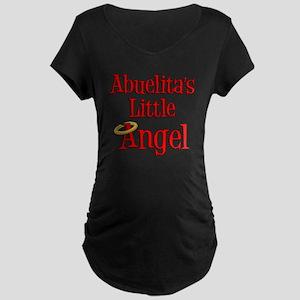 Abuelitas Little Angel Maternity Dark T-Shirt