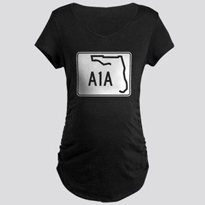 Route A1A, Florida Maternity Dark T-Shirt