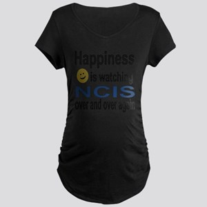 Happiness is Watching NCIS Maternity Dark T-Shirt
