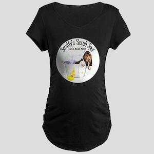 Scruffys Scrub Spot Maternity Dark T-Shirt