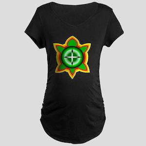 SOUTHEASTERN TRIBAL TURTLE Maternity Dark T-Shirt