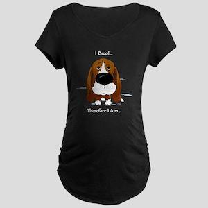 BassetDroolDark Maternity Dark T-Shirt