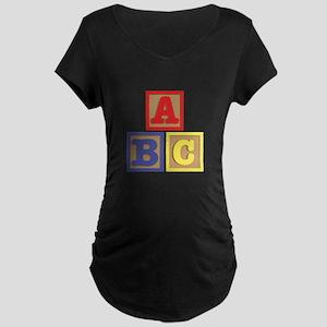 ABC Blocks Maternity T-Shirt
