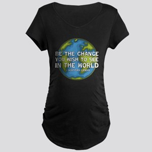 Be the Change - Earth - Green Vine Maternity Dark