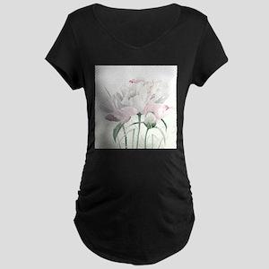 Beautiful Peony Maternity T-Shirt