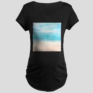 White Sand Beach Maternity T-Shirt
