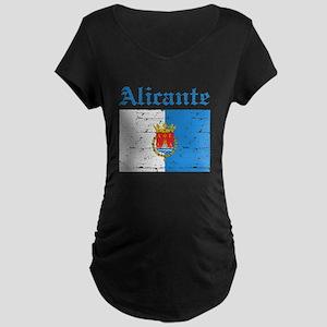 Alicante flag designs Maternity Dark T-Shirt