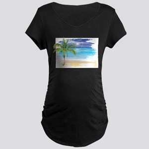 Beach Scene Maternity T-Shirt