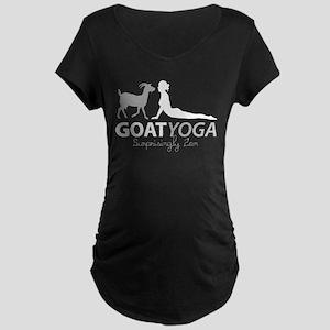 Goat Yoga Surprisingly Zen Maternity T-Shirt