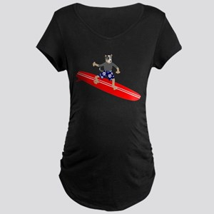 Cattle Dog Surfer Maternity Dark T-Shirt