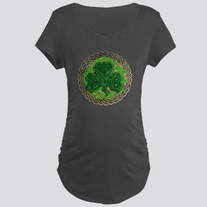 Shamrock And Celtic Knots Maternity T-Shirt