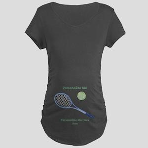 f59fd465 Personalized Tennis Maternity Dark T-Shirt