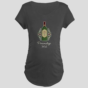 Customizable Birthday Maternity Dark T-Shirt
