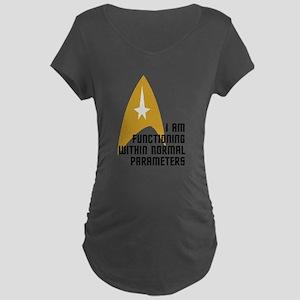Star Trek - Normal Paramete Maternity Dark T-Shirt