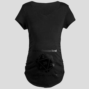 1c127f66fa368 Personalized D20 Graphic Maternity Dark T-Shirt