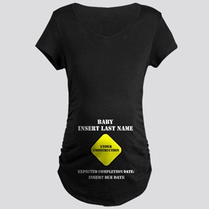 Under Construction Personalize Baby Maternity Dark