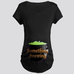 fc340efe78cd7 Halloween Something Brewing Maternity Dark T-Shirt