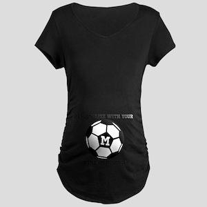 6c6968b4f7f93 PERSONALIZED Soccer Ball Maternity T-Shirt