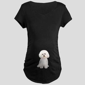 Bichon Frise #2 Maternity Dark T-Shirt